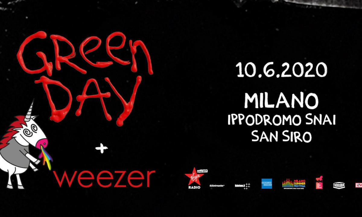 green day weezer in Italia