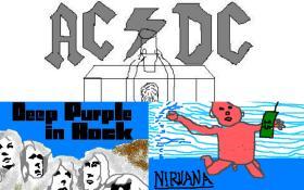 Le copertine più iconiche del rock disegnate con paint. Guarda la gallery!