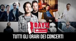 IDays 2018: tutte le info e gli orari dei concerti