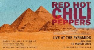 Red Hot Chili Peppers: LA DIRETTA del concerto alle Piramidi di Giza! Guardalo qui