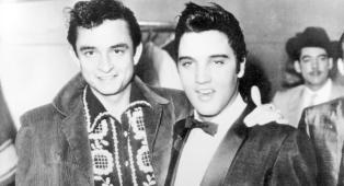 Johnny Cash e Elvis Presley