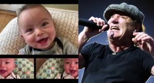 """AC/DC: il video del neonato che """"canta"""" Thunderstruck!"""