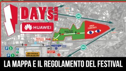 IDays 2018: La mappa e il regolamento del festival. I percorsi, i parcheggi, gli ingressi e cosa non si può portare