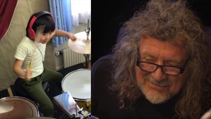 """Led Zeppelin: la fantastica reazione di Robert Plant alla bambina di 8 anni che suona """"Good Times Bad Times""""! Guarda il video"""