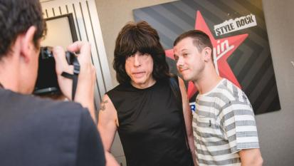 Marky Ramone: guarda le foto dell'intervista con Andrea Rock negli studi di Virgin Radio