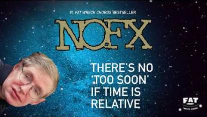 I NOFX hanno pubblicato una canzone dedicata a Stephen Hawking (scritta un mese prima della sua morte). Ascoltala qui