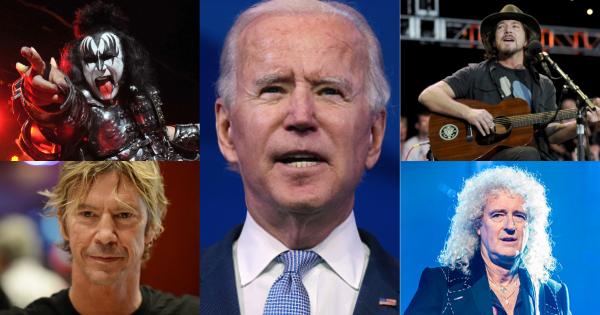 Le reazioni delle rockstar all'insediamento di Joe Biden come 46° Presidente degli Stati Uniti. Guardale qui