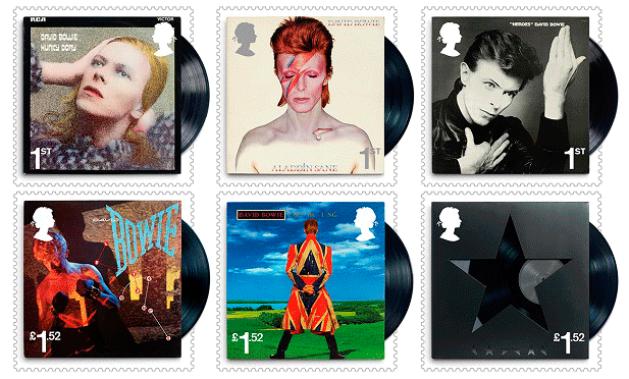 Le poste britanniche hanno omaggiato David Bowie con 10 francobolli