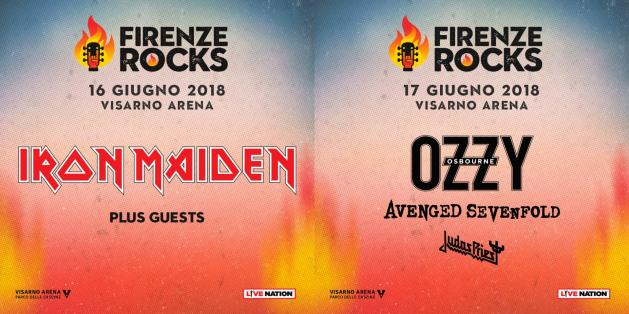 firenze rocks ozzy iron maiden