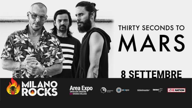 MILANO ROCKS: 30 Seconds to Mars sono il primo gruppo headliner annunciato