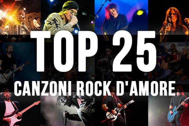 La top 25 delle canzoni rock d'amore