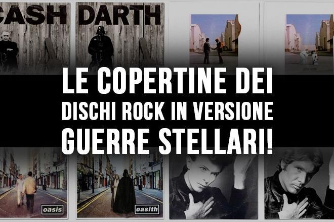 Le copertine dei dischi rock in versione Guerre Stellari!