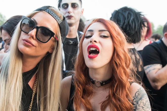 Facce da Marilyn Manson a Milano