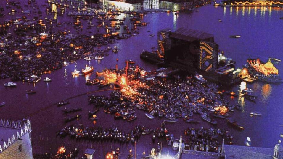 Pink Floyd: le foto del concerto di Venezia del 15 luglio 1989