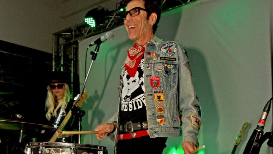 Slim Jim Phantom from Stray Cats + Jennie Vee from EODM live a Milano