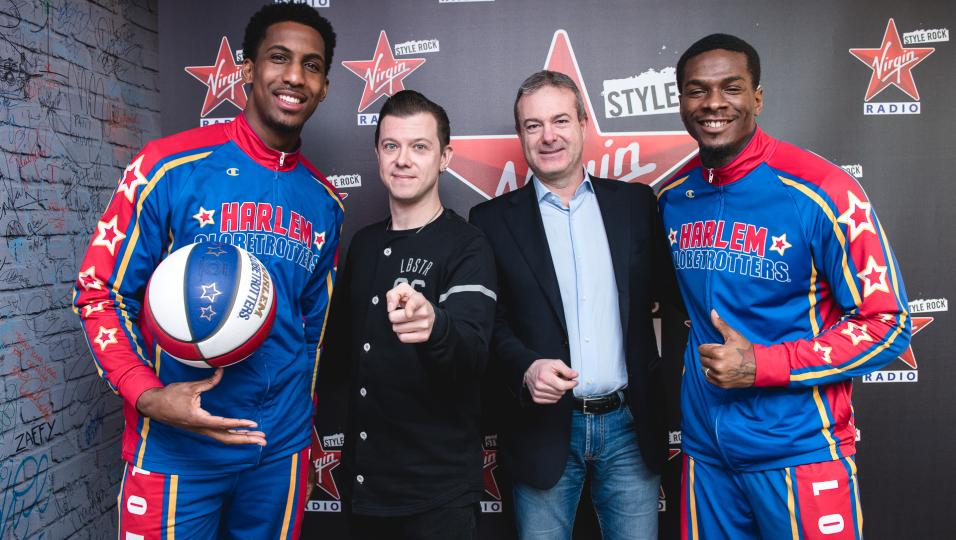 Harlem Globetrotters a Virgin Radio: guarda le foto dell'intervista con Andrea Rock