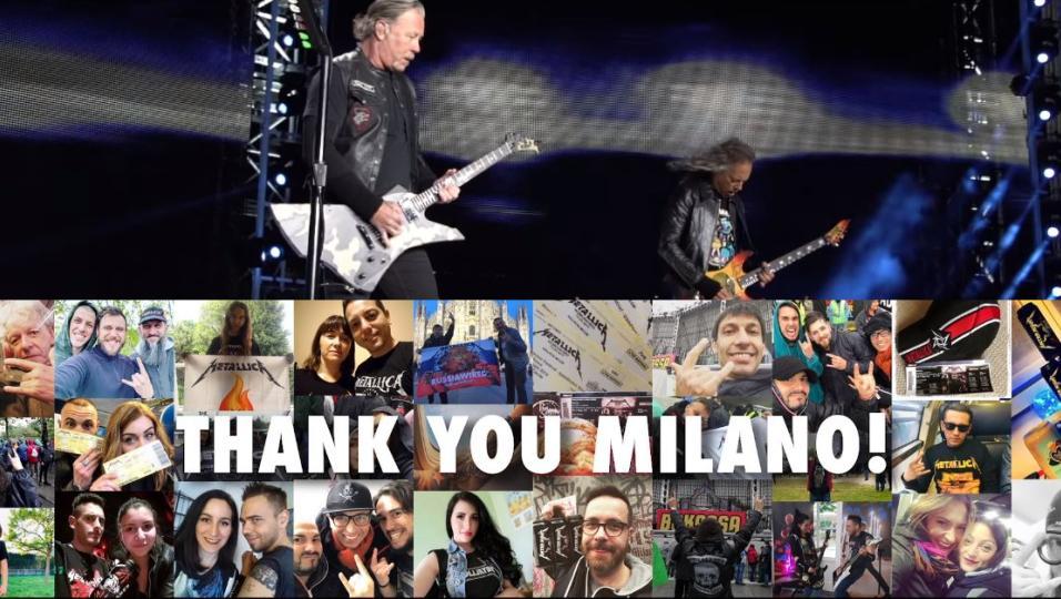Metallica: la band pubblica il video racconto ufficiale della giornata del concerto a Milano! Guardalo qui