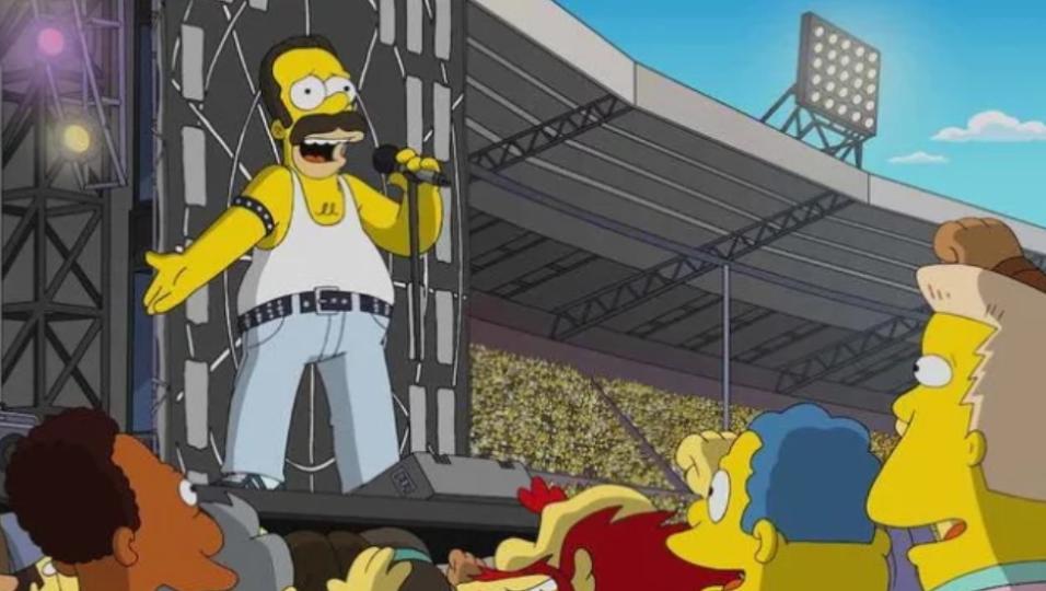 Queen, la storica esibizione del Live Aid ricreata in un episodio dei Simpson!