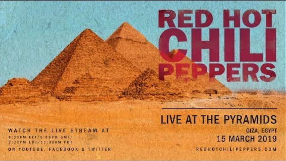 Red Hot Chili Peppers: LA DIRETTA del concerto alle Piramidi di Giza! Guardalo qui