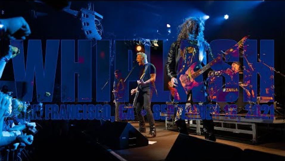 Metallica, pubblicato il video ufficiale del loro primo concerto dopo la pandemia. Guarda qui Whiplash