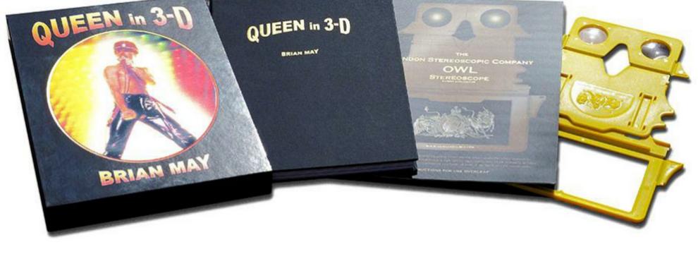 Speciale Queen 3-D: tutto sullo straordinario libro realizzato da Brian May!