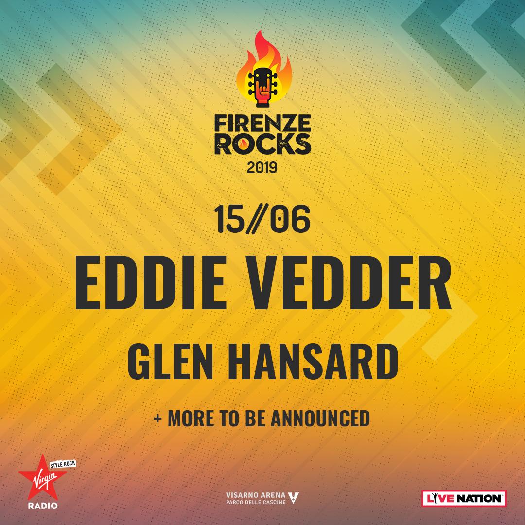 Anche EDDIE VEDDER al Firenze Rocks, headliner il 15 giugno